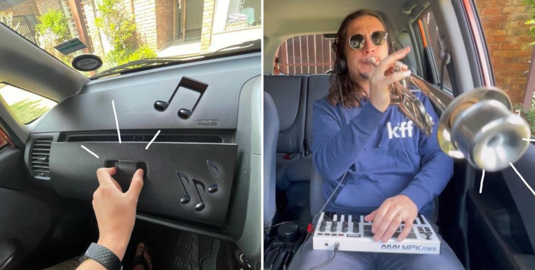 Musician Turns Squeaky Glovebox Door Into Tasty Jazz Jam