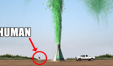World's Tallest Elephant Toothpaste Chemical Reaction Reaches 250-Feet